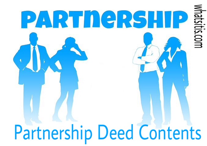 Partnership Deed Contents