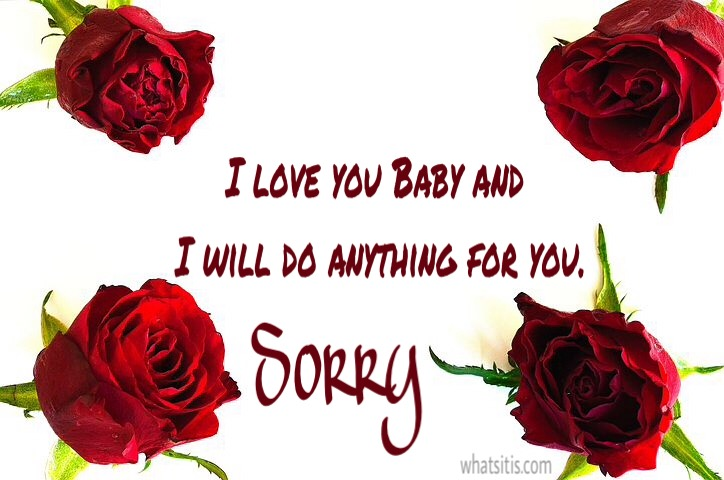 I love you and sorry image