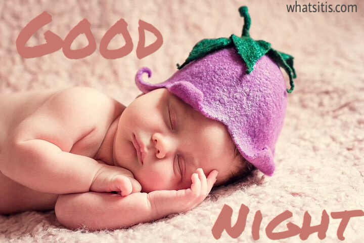 Cute baby saying good night
