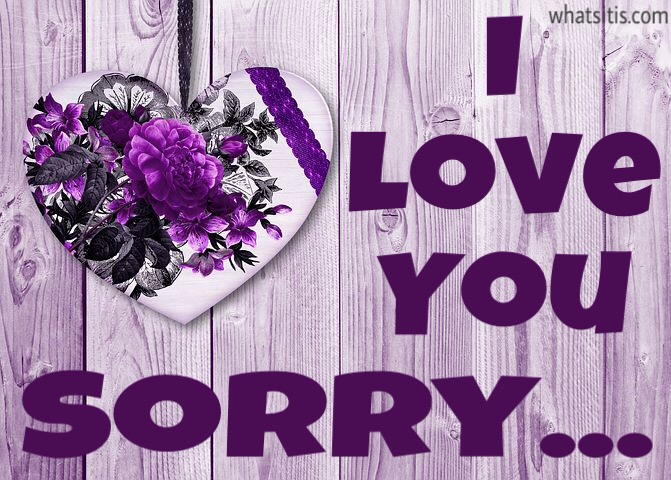 I love you and sorry Quotes and Images