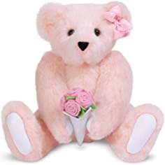 Teddy bear image with flowers