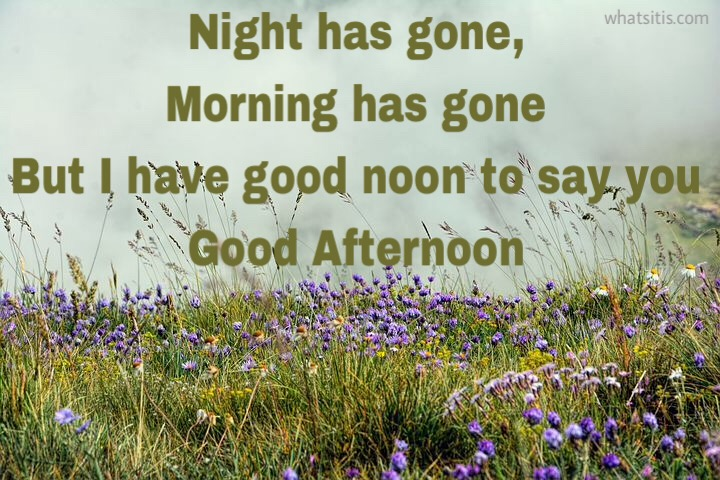 good afternoon images messages