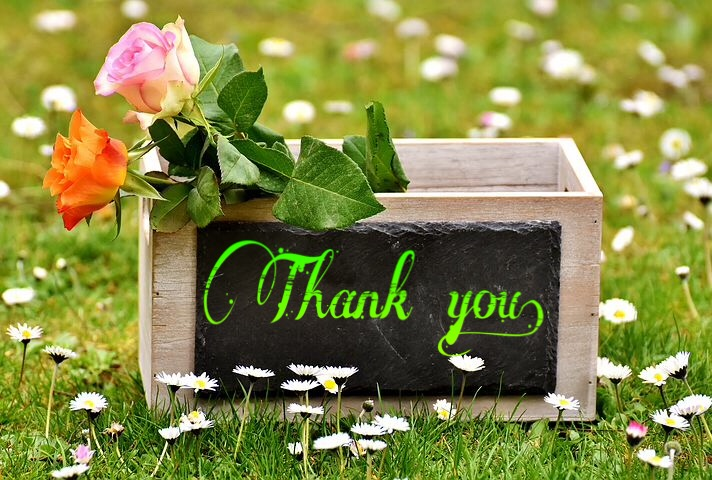Thank you image with flowers