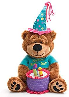 Teddy bear image with cake
