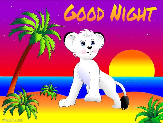 Cartoon good night image