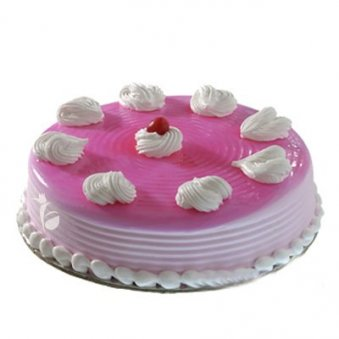 Romantic birthday cake image