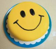 birthday cake smiley face