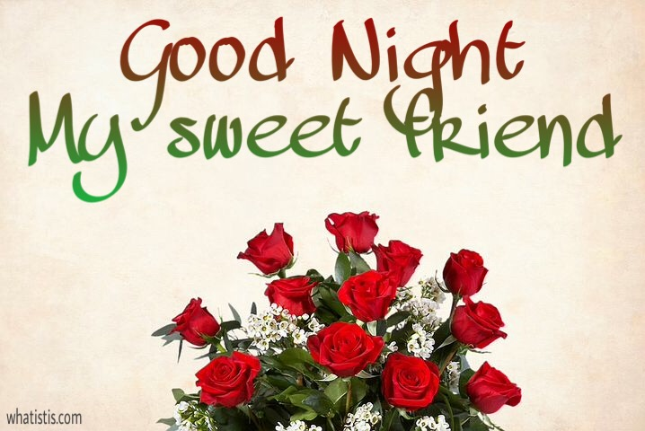 Good Night My Sweet Friend Image