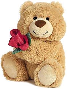 Teddy bear with rose wallpaper