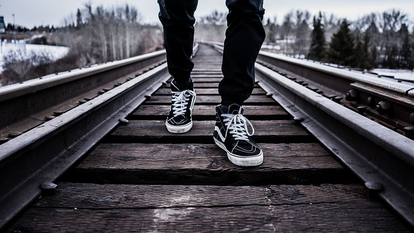 Boy on railway track sad images for whatsapp dp