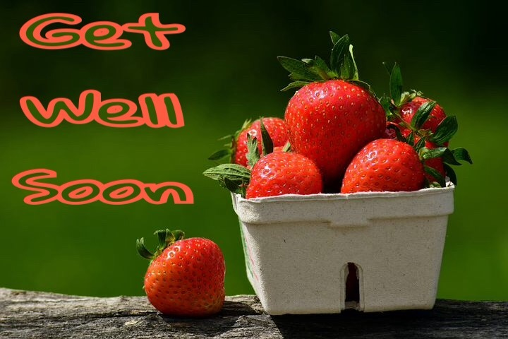 get well soon image with fruit basket