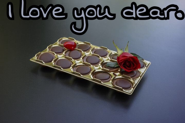 I love you image for chocolate day special rose