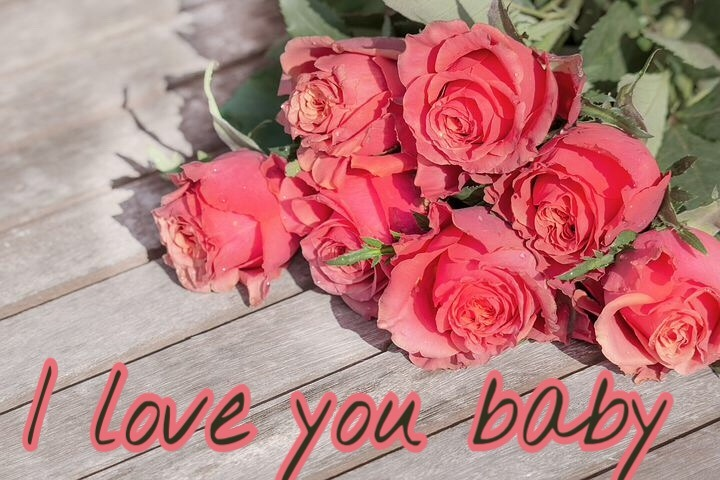 I love you flowers Wallpaper