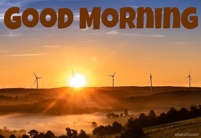 Good morning images for Whatsapp free HD download with sun rise