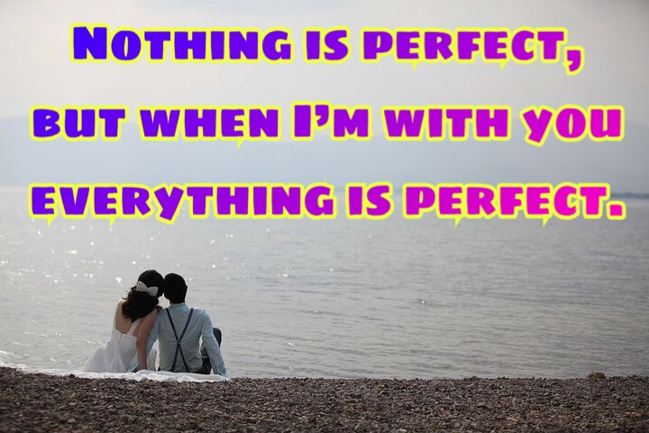 Sweet love pic with quote