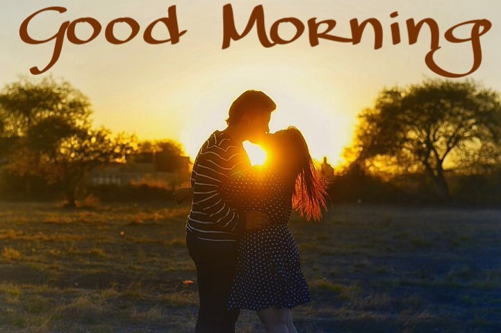 Love couple good morning