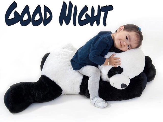 Very cute good night baby image