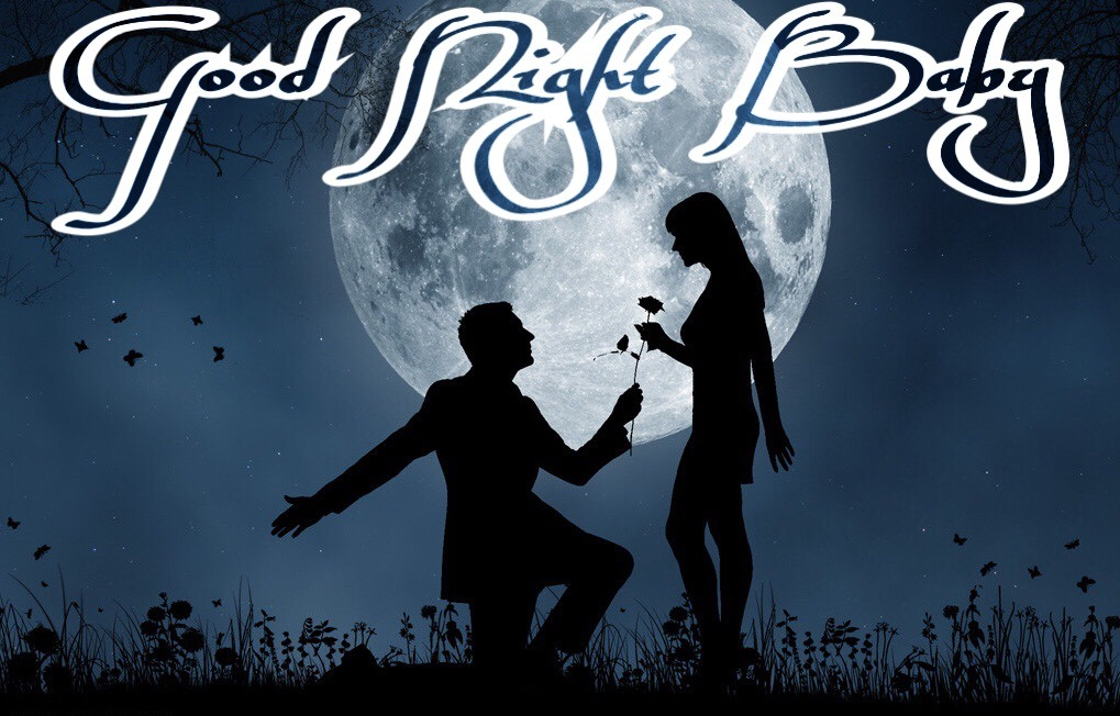 New good night image with love couple for lovers