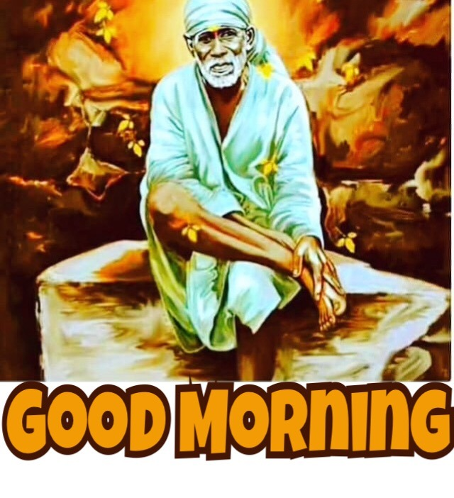 good morning images sai baba god