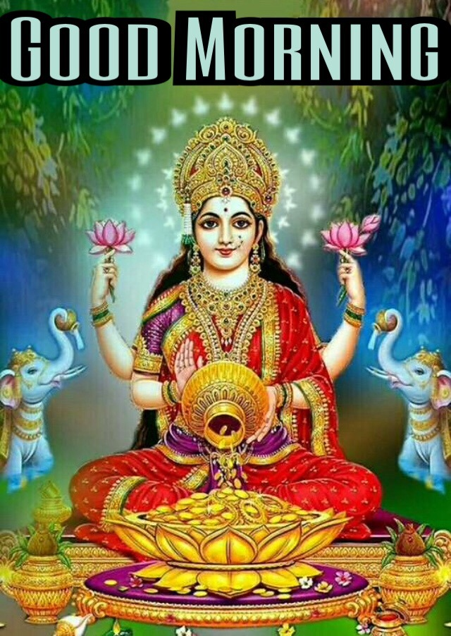 good morning images with laxmi mata
