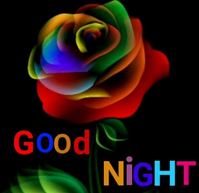 Colourful good night pic