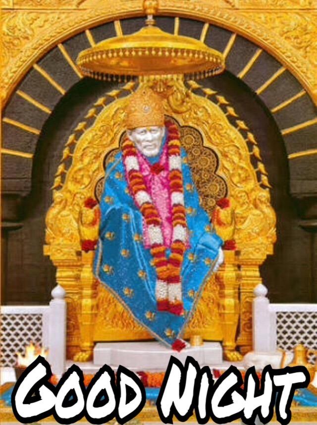 Good Night Sai Baba Images