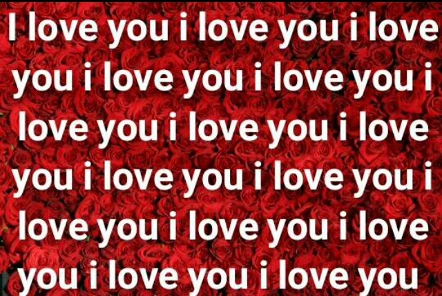 I love you written on roses image