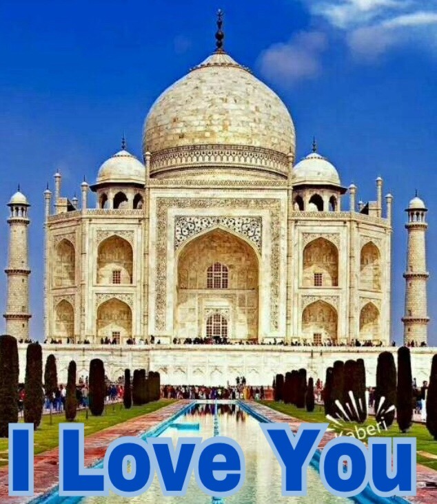 Taj Mahal I love you image