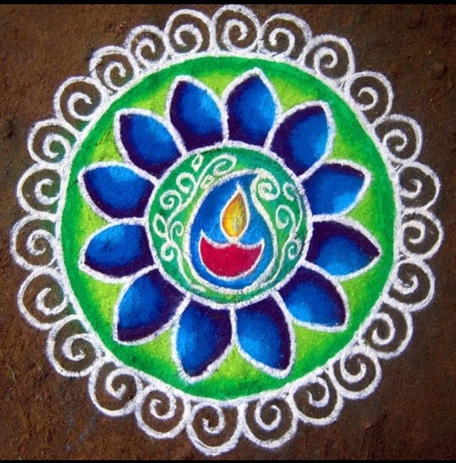 Colourful rangoli images design download