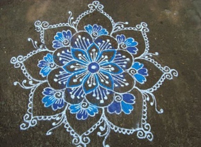 Easy Rangoli design images free download