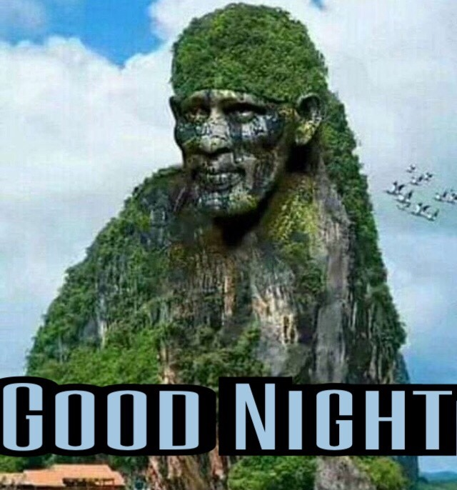 Sai baba Images For Good Night Wishes