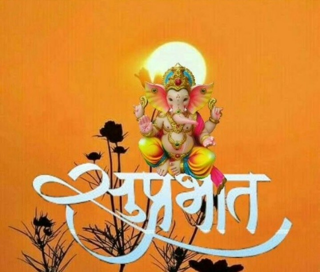 Ganpati good morning images for whatsapp in hindi