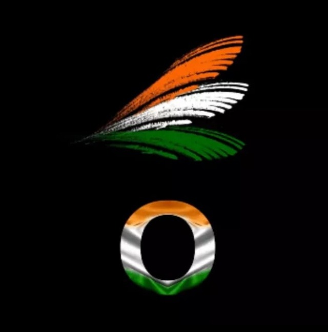 o letter in indian flag colour
