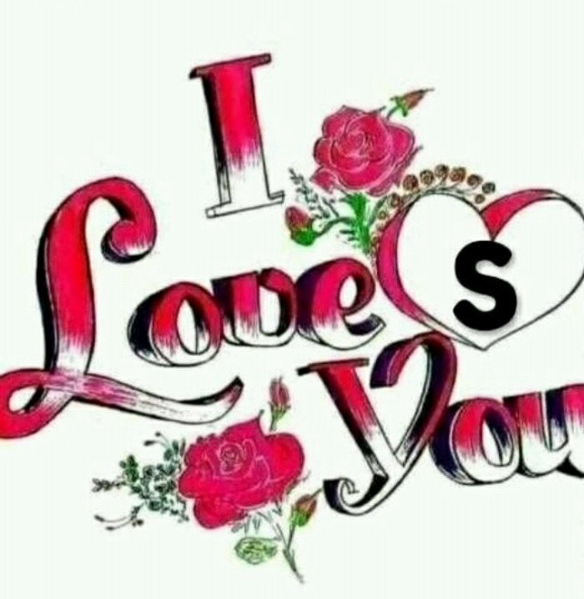 I love you images with name s letter