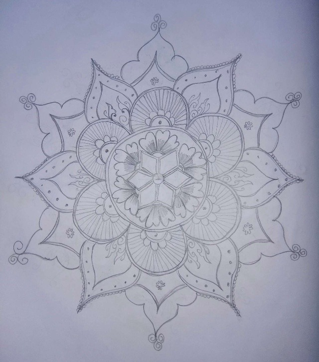 rangoli designs on paper with pencil