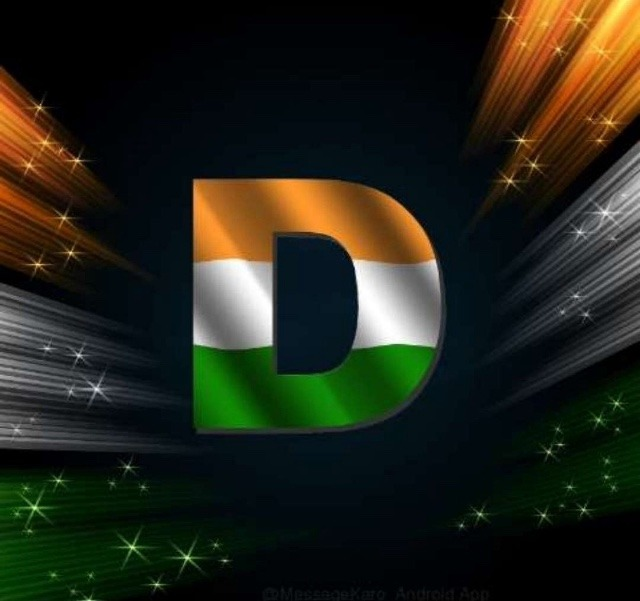 D Indian Flag Word Image