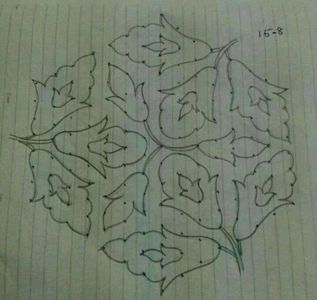 New rangoli designs on paper with pencil