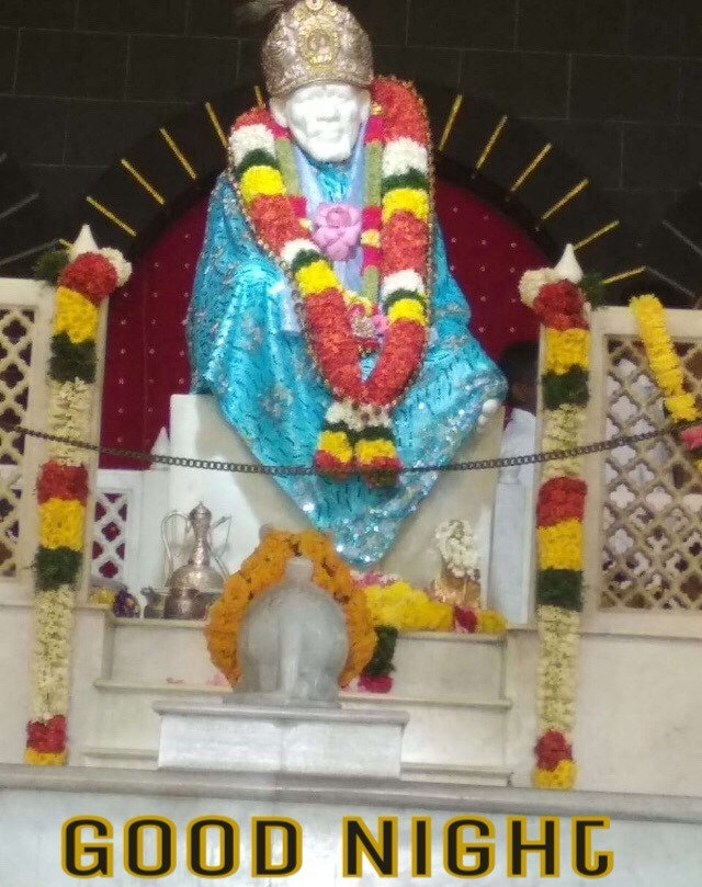 Sai Baba Images With Good Night